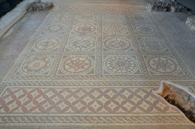 Mosaic with floral panels, around 180 AD, Verulamium, St Albans © Carole Raddato