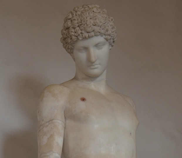 The Capitoline Antinous, now considered to be a late Hadrianic / early Antonine copy of an early 4th century BC Greek statue of Hermes, found at Hadrian's Villa, Palazzo Nuovo, Capitoline Museums © Carole Raddato