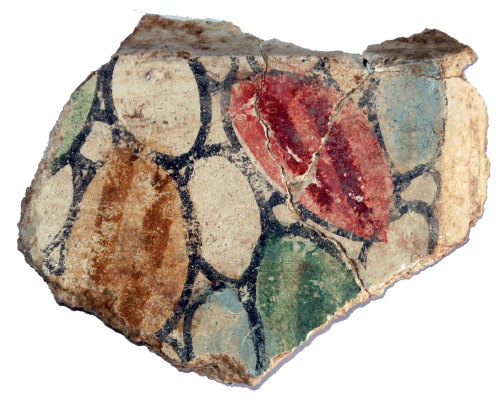 Fresco fragment from Sainte-Marguerite of the first Pompeian Style
