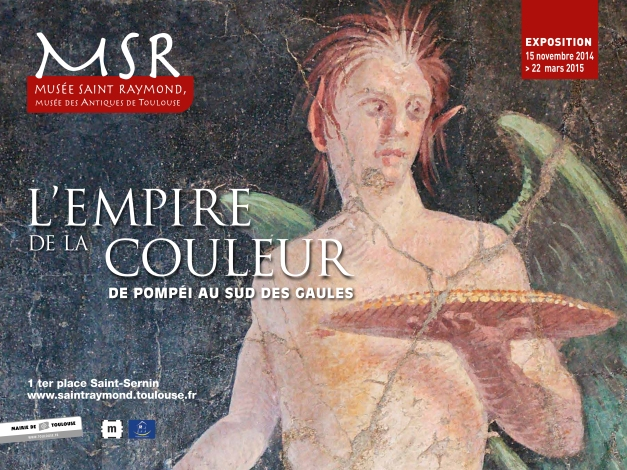 Empire of colour. From Pompeii to Southern Gaul, exhibition poster
