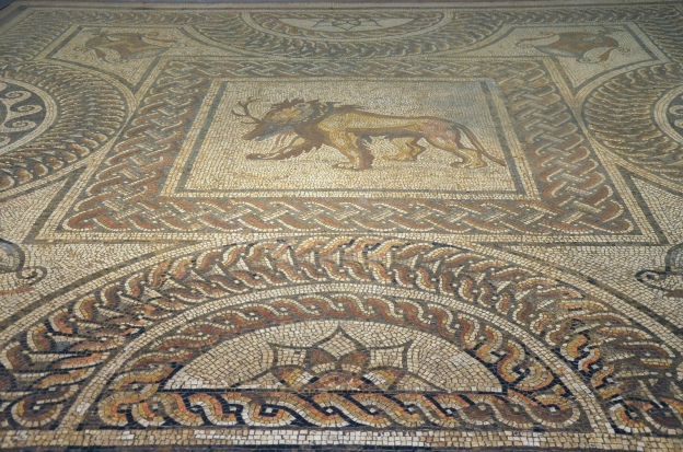 The Lion and Stag Mosaic, Verulamium Museum, St Albans © Carole Raddato