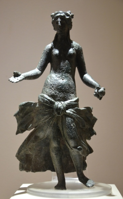 "The so-called ""Verulamium Venus"", a bronze statuette of Venus holding an apple in her left hand or Persephone holding a pomegranate, 2nd century AD, Verulamium Museum, St Albans © Carole Raddato"