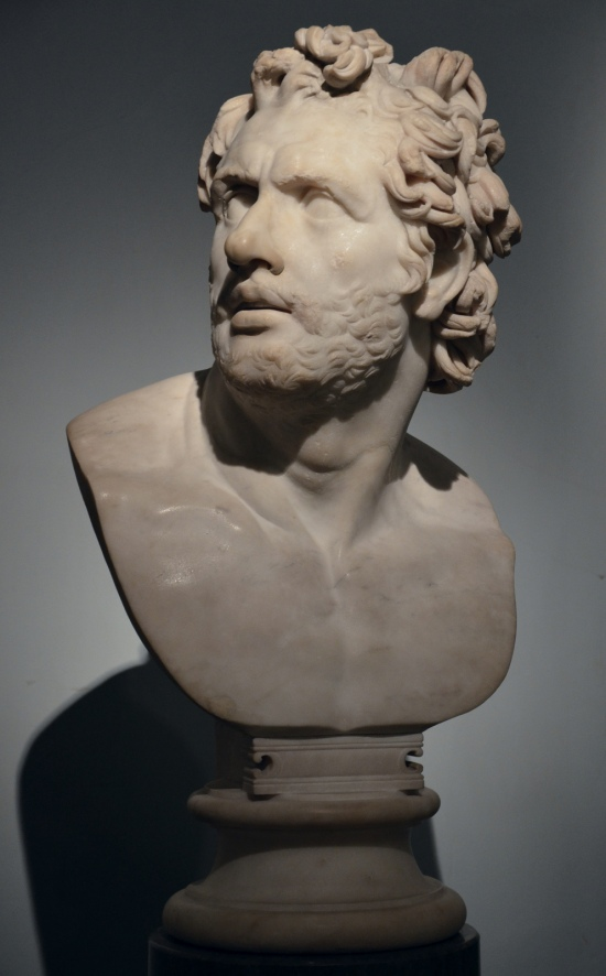 Art and sculptures from Hadrian's Villa: Marble head of a companion of Odysseus