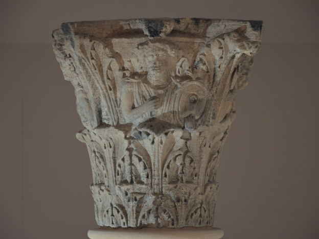The Jupiter Column's Corinthian capital, Ambrosia playing a drum, Corinium Museum, Cirencester Carole Raddato CC BY-SA