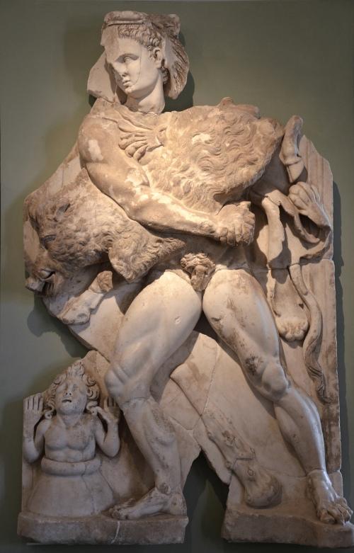 The Labours of Hercules reliefs, Hercules capturing the Erymanthian Boar (4th labour) Musée Saint-Raymond Toulouse Carole Raddato CC BY-SA