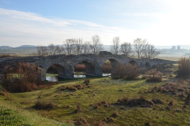 Roman bridge Ozieri, dating to the 2nd century AD and restored in the 3rd–4th century AD. It has six arcades for a total length of 87.50 metres (287 ft), Sardinia Carole Raddato CC BY-SA