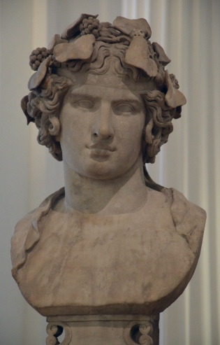 Marble bust of Antinous portrayed here as the reborn god Dionysus, known as Lansdowne Antinous, found at Hadrian's Villa in 1769, c. 130 - 138 AD, Fitzwilliam Museum, Cambridge (UK) Carole Raddato CC BY-SA