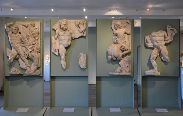 The Labors of Hercules, marble relief discovered at the site of the Roman villa of Chiragan, end of 3rd century AD, Musée Saint-Raymond Toulouse Carole Raddato CC BY-SA
