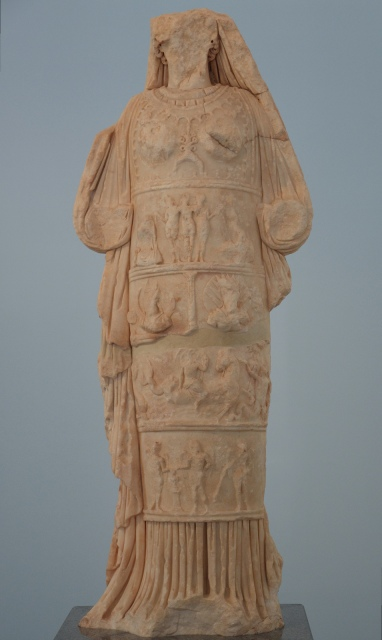 Statue of Aphrodite of Aphrodisias, from the Bouleuterion, 2nd century AD, the best-preserved version of the cult statue of Aphrodite in her temple, Aphrodisias Museum, Turkey