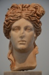 Marble head of a goddess, found in the Hadrianic Baths, 2nd century AD, Aphrodisias Museum