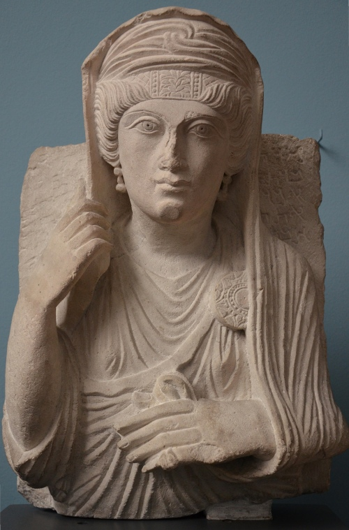 The lady Marti, funerary portrait of a woman from Palmyra, c. AD 170-190, Ny Carlsberg Glyptotek, Copenhagen Carole Raddato CC BY-SA