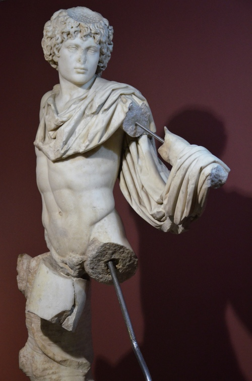 Antinous portrayed as the hero Androclus, mythical founder and first king of Ephesus, ca. 138 - 161 AD, from Ephesus, Izmir Archaeological Museum, Turkey Carole Raddato CC BY-SA