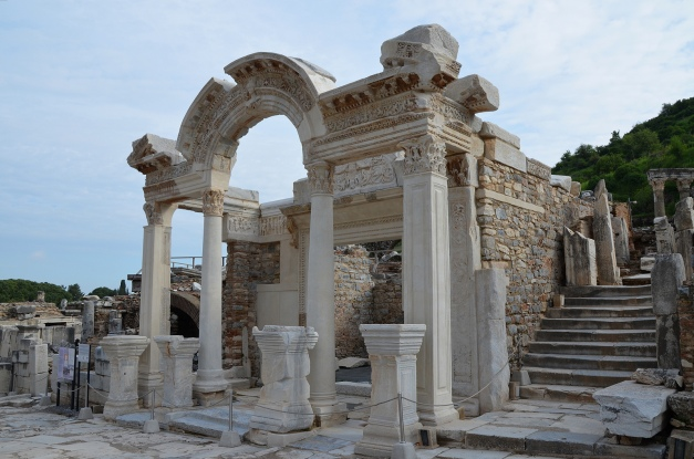 The Temple of Hadrian on Curetes Street, Ephesus, Turkey Carole Raddato CC BY-SA