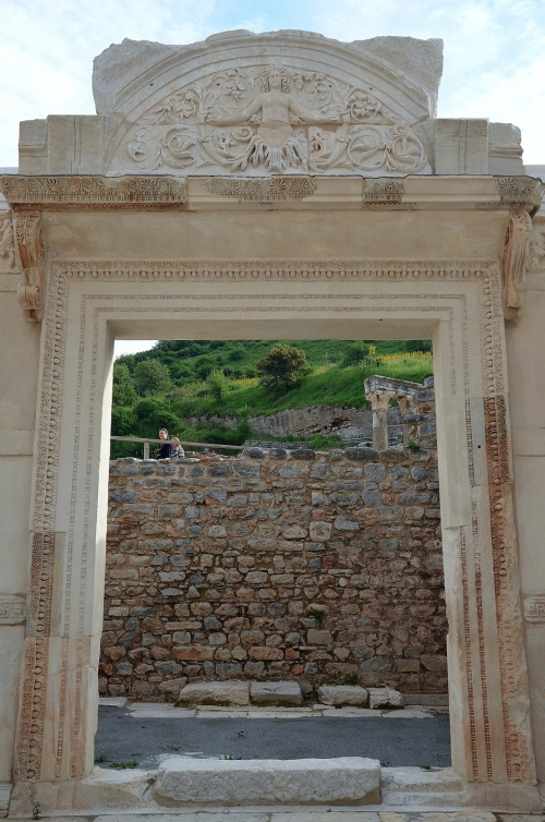 The door opening leading to the cella of the Temple of Hadrian, Ephesus, Turkey Carole Raddato CC BY-SA