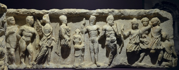 Original frieze slab from the Temple of Hadrian depicting a sacrifice in front of an altar, Ephesus Museum, Selçuk, Turkey Carole Raddato CC BY-SA