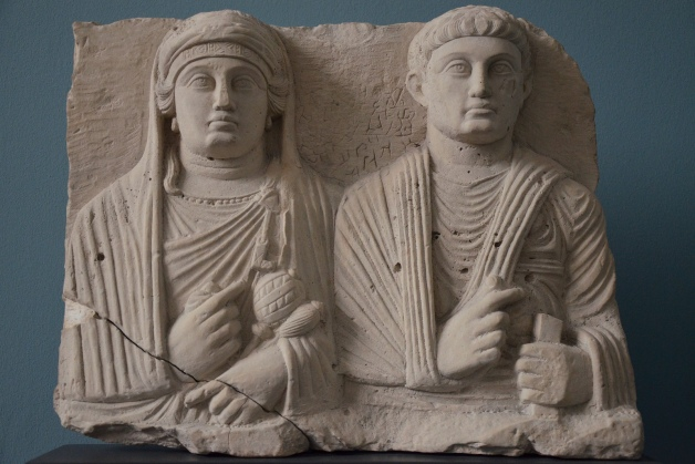 Limestone portrait of a Palmyrene couple, c. 150 AD Ny Carlsberg Glyptotek, Copenhagen Carole Raddato CC BY-SA