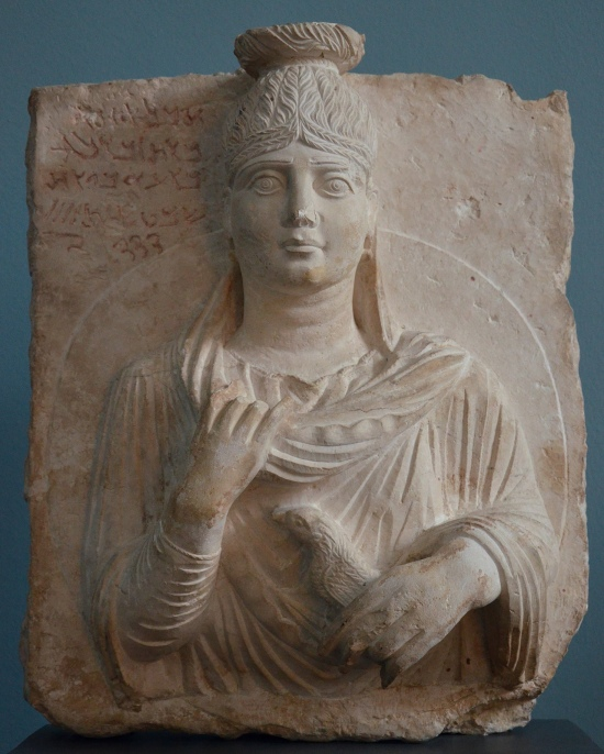 Limestone portrait of a Palmyrene woman called Aha, Daughter of Zabdila, 149 AD Ny Carlsberg Glyptotek, Copenhagen Carole Raddato CC BY-SA