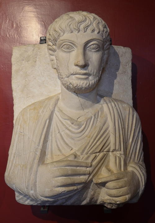 Funerary bust of a man from Palmyra, Roman Imperial period, 2nd century AD Vatican Museums, Rome Carole Raddato CC BY-SA