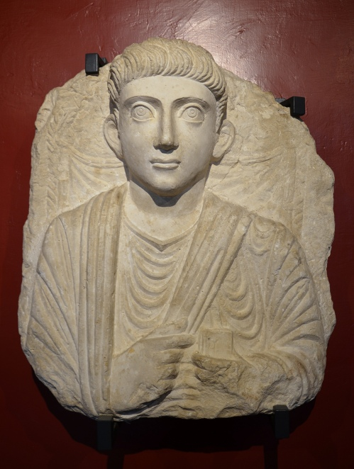 Funerary bust of a man from Palmyra, Roman Imperial period, 2nd century AD, Vatican Museums, Rome Carole Raddato CC BY-SA