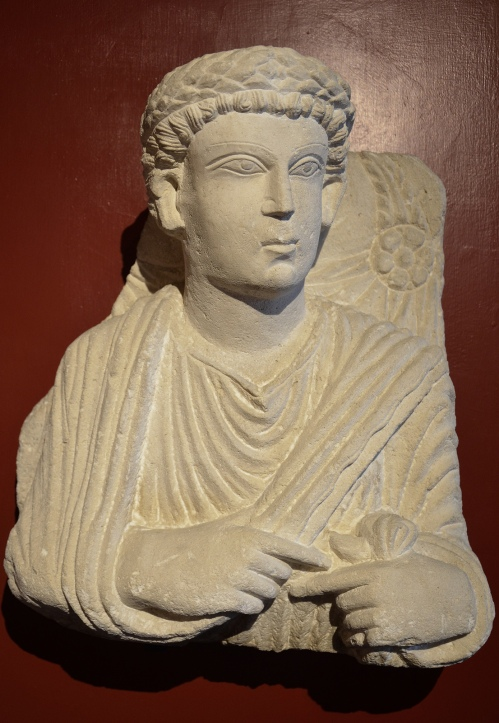 Funerary bust of a man from Palmyra, Roman Imperial period, 3rd century AD Vatican Museums, Rome Carole Raddato CC BY-SA