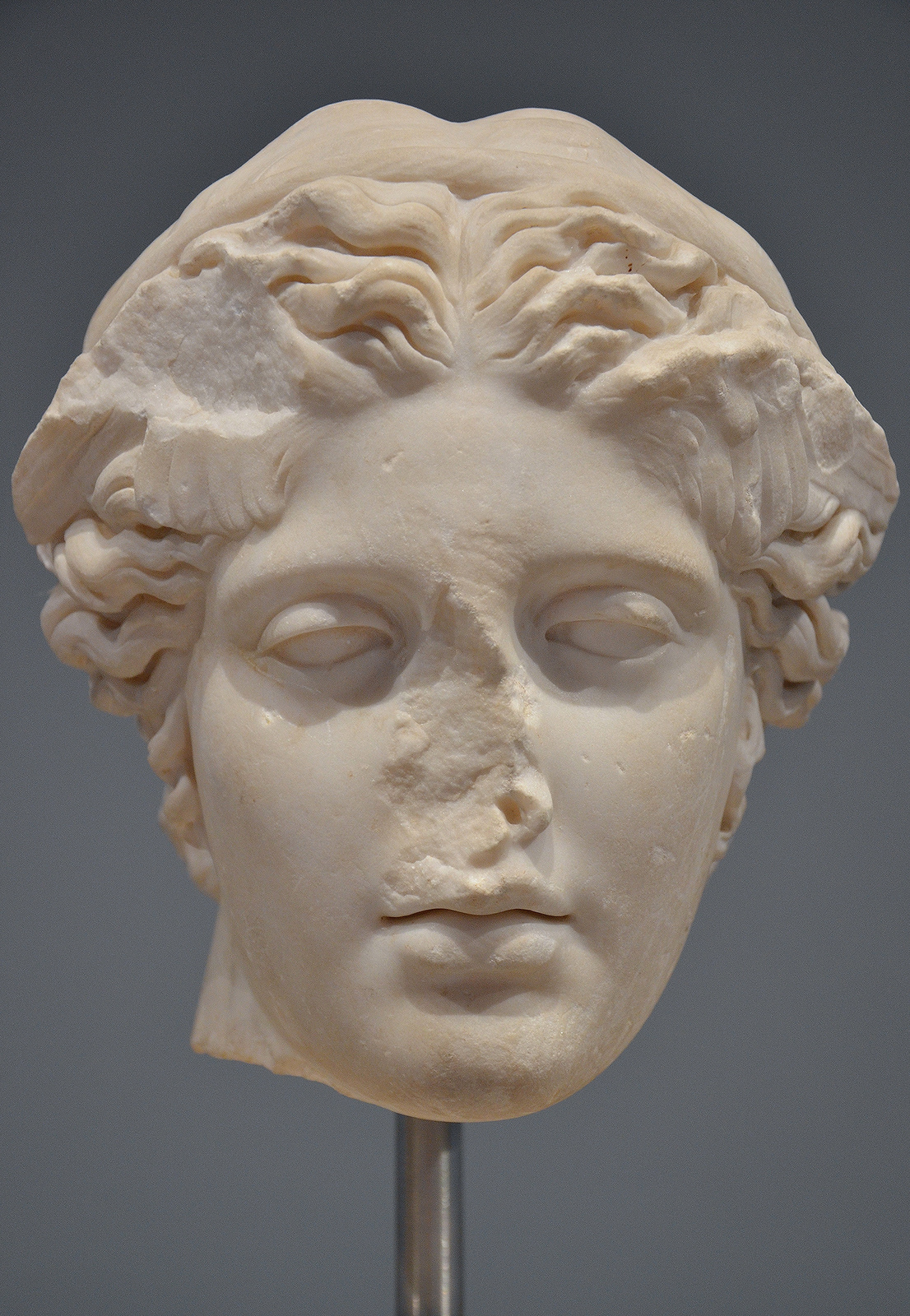 Art and sculptures from Hadrian's Villa: Marble head of Hypnos