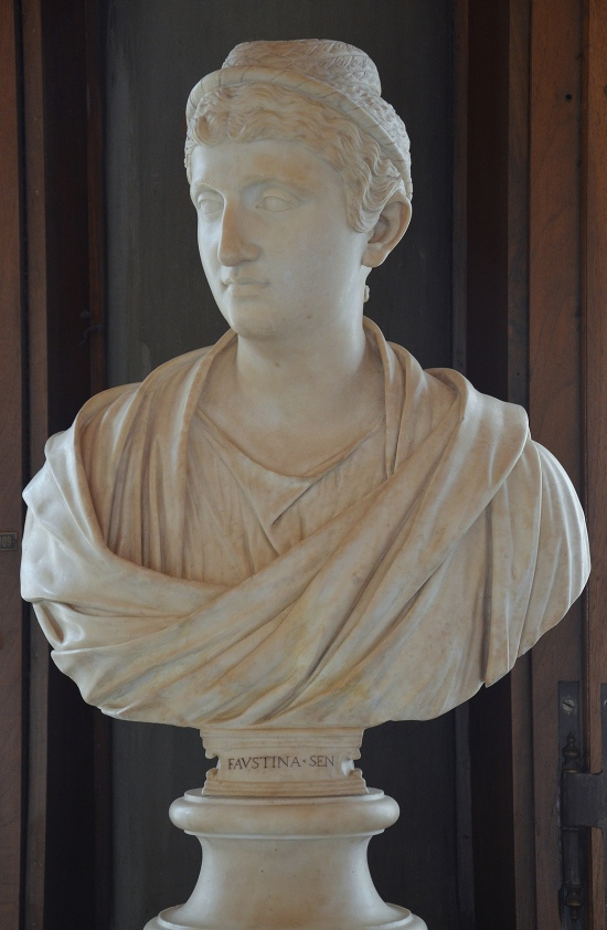 Bust of Empress Faustina the Elder, wife of Antoninus Pius, circa 141 AD, Galleria degli Uffizi, Florence Carole Raddato CC BY-SA