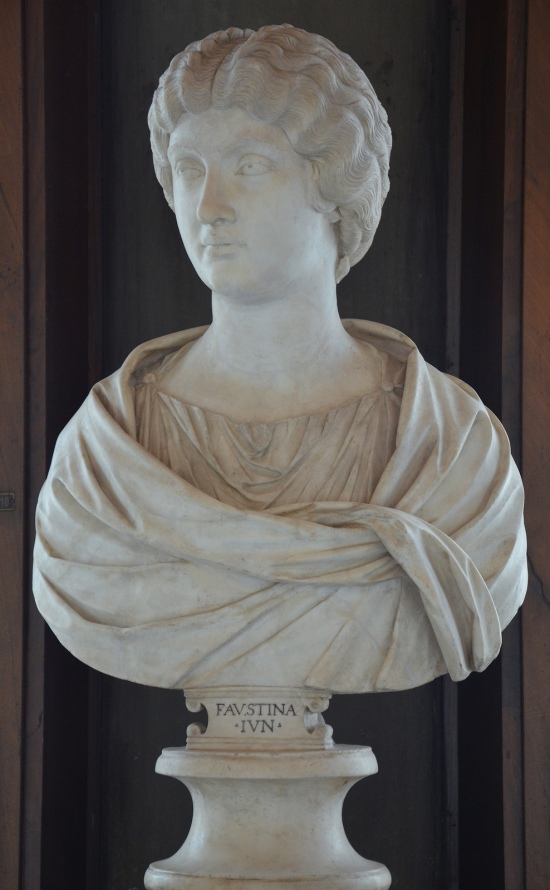 Bust of Empress Faustina the Younger, wife of Marcus Aurelius, Galleria degli Uffizi, Florence Carole Raddato CC BY-SA