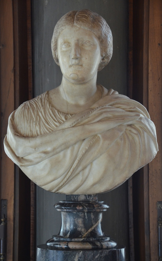 Portrait of an unknown woman so-called Lucilla, mid 2nd century AD, Apuan marble, Galleria degli Uffizi, Florence