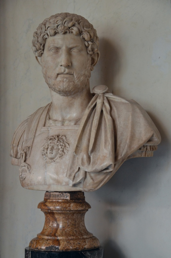 Bust of Hadrian, 117-121 AD (of the Termini type), Galleria degli Uffizi, Florence Carole Raddato CC BY-SA