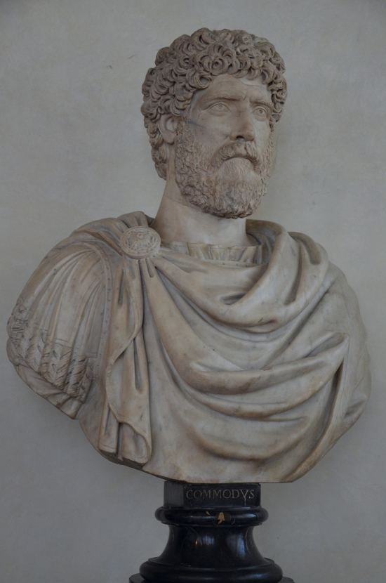 Private portrait of a citizen of the late Antonine period thought to be Commodus, 160 - 180 AD, Galleria degli Uffizi, Florence