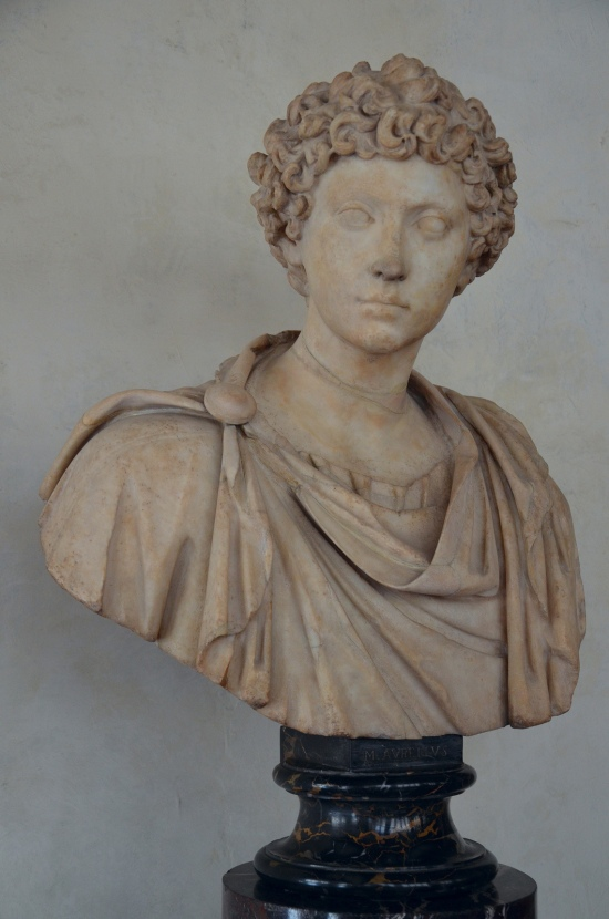 Bust with the head of a young man (previously known as Marcus Aurelius), mid 2nd century AD, Galleria degli Uffizi, Florence