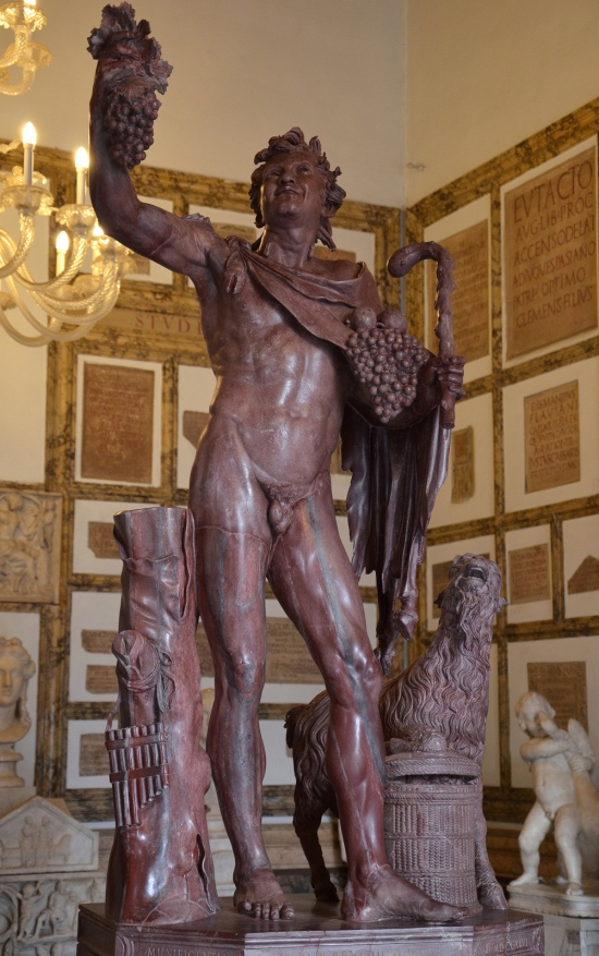 The so-called Fauno rosso, a statue in red-marble depicting a drunken satyr, Hadrianic copy of a Greek original from the late Hellenistic, from Hadrian's Villa, Palazzo Nuovo, Capitoline Museums