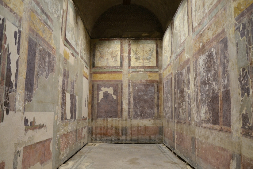 The left-hand room of the House of Livia.