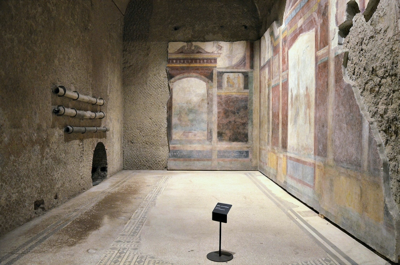 "The tablinum of the House of Livia, also known as the ""Room of Polyphemus""."