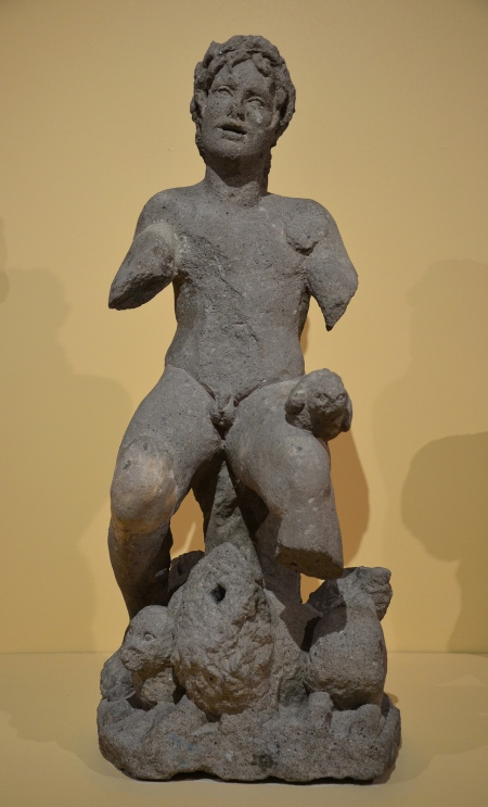 Statue of Orpheus charming the animals in Peperino marble, 2nd century BC, from the Via Tiburtina, Via Tiburtina Centrale Montemartini, Rome