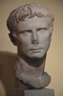 Portrait of Augustus, 27-20 BC, from the excavation sites on the Via del Mare