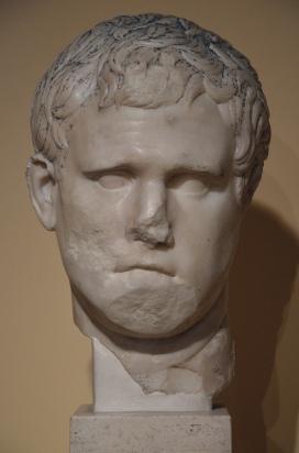 Portrait of Marcus Vispanius Agrippa, from the excavation sites on the Via del Mare