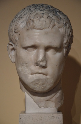 Portrait of Marcus Vispanius Agrippa, from the excavation sites on the Via del Mare