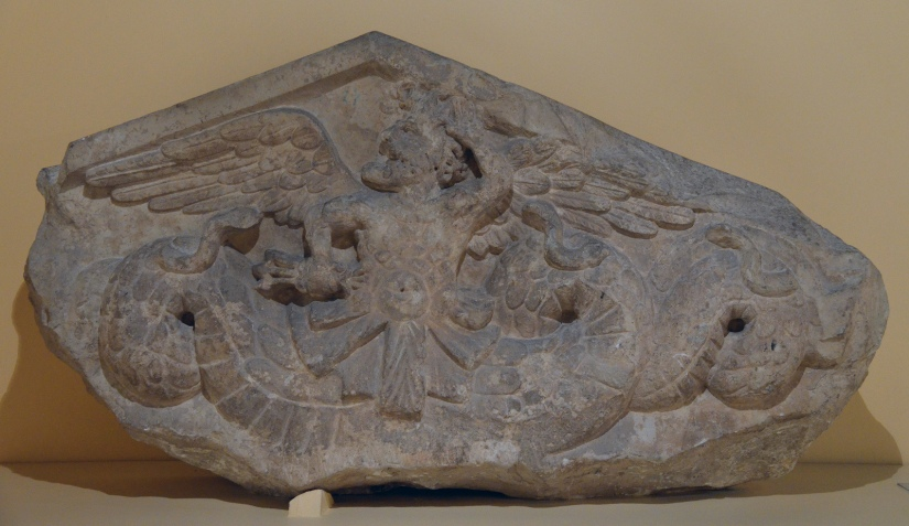 Pediment with Triton, 1st century BC, from a funerary building on the Via Salaria Centrale Montemartini, Rome