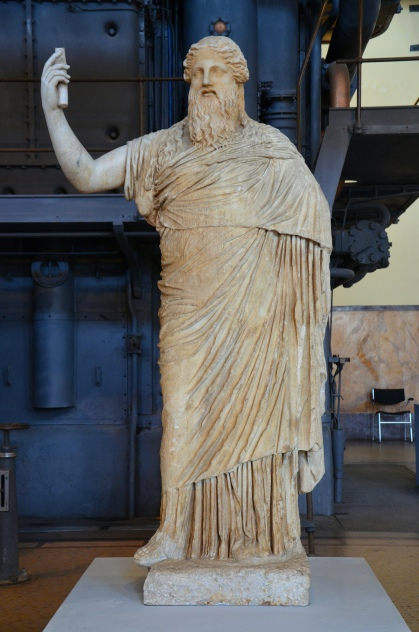 Statue of bearded Dionysus, copy after Greek original of the 2nd half of 4th century BC Centrale Montemartini, Rome