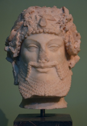 Head of Priapus, refined Augustan version of archaic models dating back to the late 6th century BC, from the Horti Lamiani Centrale Montemartini, Rome