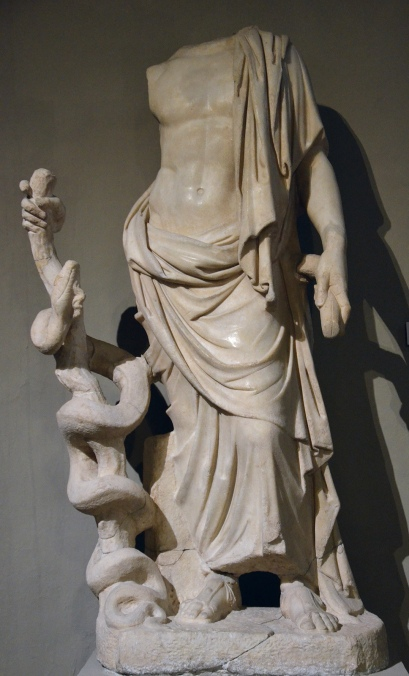 Statue of Asklepios, from the Gymnasium of Salamis, 2nd century AD, Cyprus Museum
