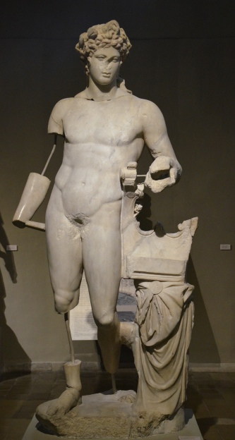 Over life-size statue of Apollo Citharoedus (the lyre-player), from the Gymnasium of Salamis, 2nd century AD, Cyprus Museum