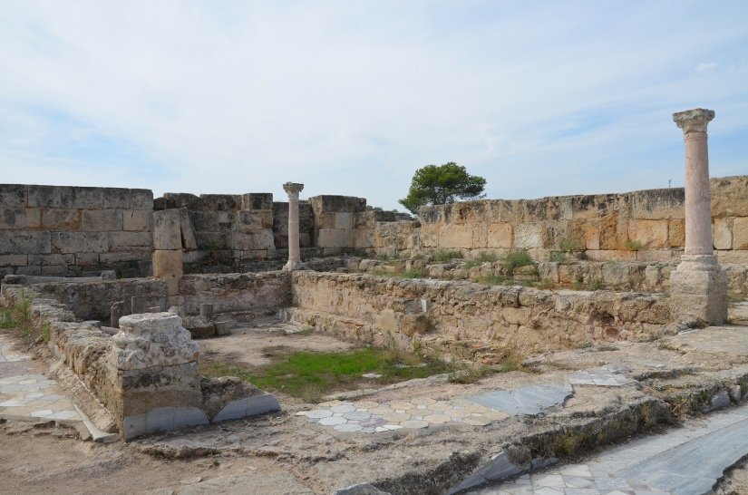 Marble pool at SE corner of the Gymnasium's portico dating back to the 2nd century AD (Trajanic/Hadrianic), Salamis