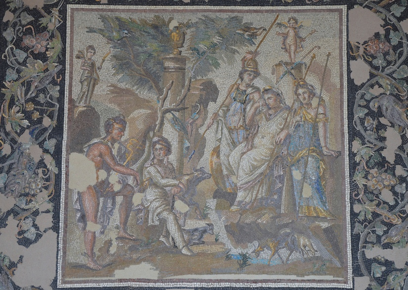 Mosaic of the Judgment of Paris, 115 - 150 AD, from Antioch on the Orontes (Antakya, Turkey), Louvre Museum