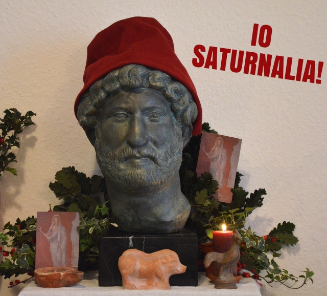 My homemade Saturnalia shrine. Saturnalia