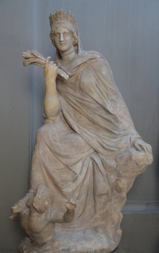 The Tyche of Antioch. Marble, Roman copy after a Greek bronze original by Eutychides of the 3rd century BC. Galleria dei Candelabri, Vatican Museums, Rome.