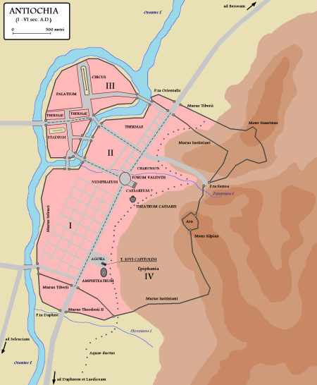 Map of Antioch, capital of Syria.