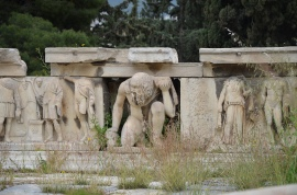 Hadrianic reliefs from the stage front (scaenae frons) of the Theater of Dionysus on the South Slope of the Acropolis, Athens