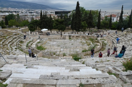 The Theatre of Dionysus on the south slope of the Acropolis, Athens. Image © Carole Raddato.
